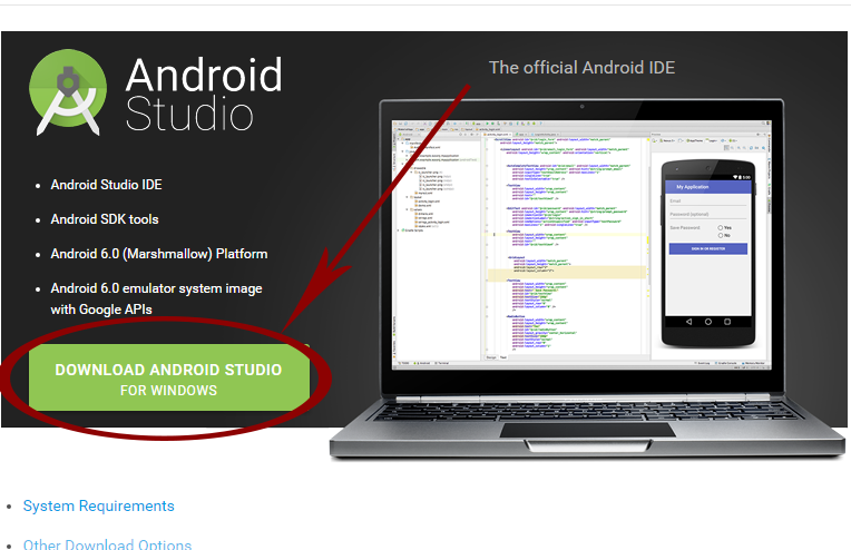 download android studio for windows