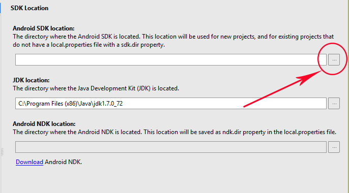 How to change android sdk manager path in Android Studio