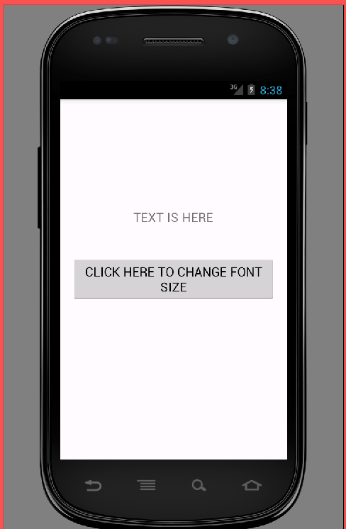 Change TextView font size in android programmatically