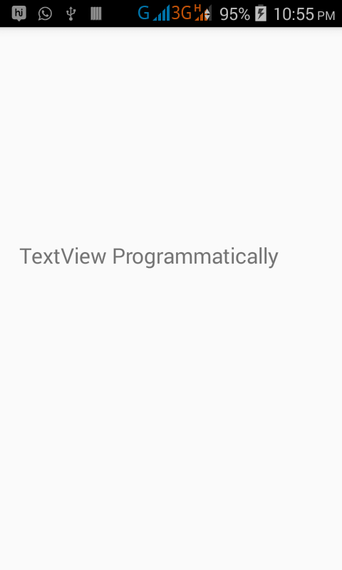 Create TextView dynamically using java file in android