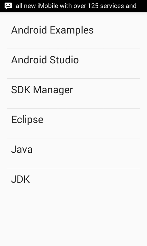 Android Simple ListView example tutorial - Android Examples