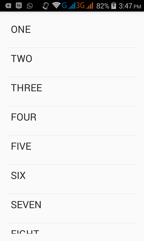 Set string array to listview in android
