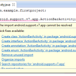 The import android.support.v7.app cannot be resolved error solution