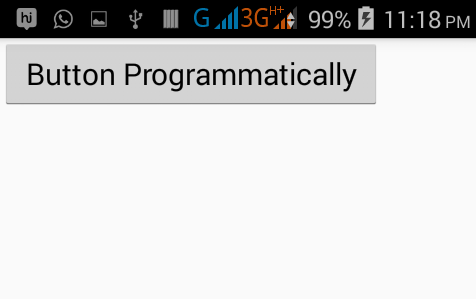 Create Button dynamically through MainActivity in android