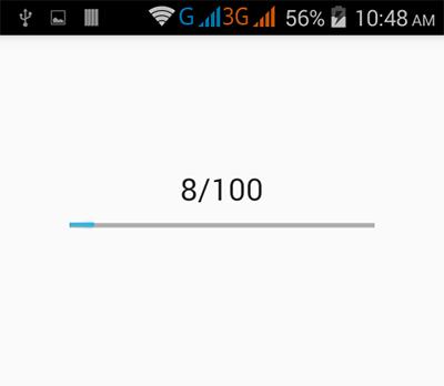Android horizontal Progress Bar example tutorial