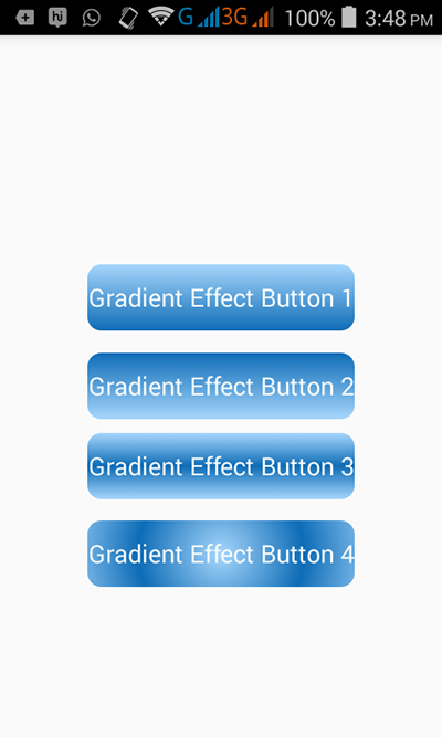 Create buttons in android with Gradient effect