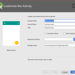 Add new activity to existing android project into Android Studio