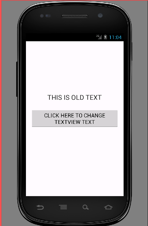 Change textview text programmatically in android
