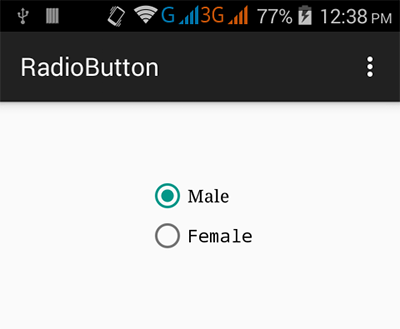 Android radio button group example tutorial