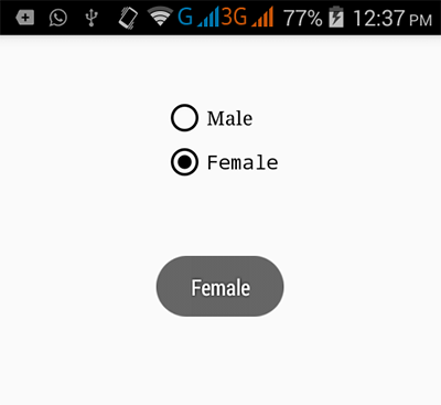 How to get checked radio button group value in android