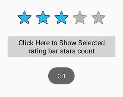 Android Star Rating Bar widget example tutorial