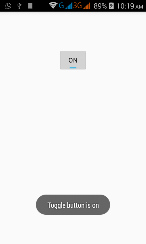 How to check toggle button is on or off in android