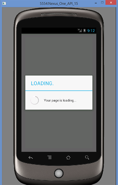 Display progress alert dialog on WebView loading - Android Examples