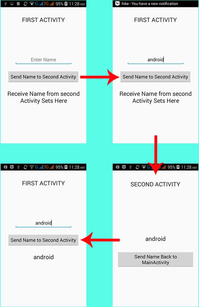 Android StartActivityForResult example tutorial