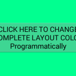 Set layout background color programmatically android