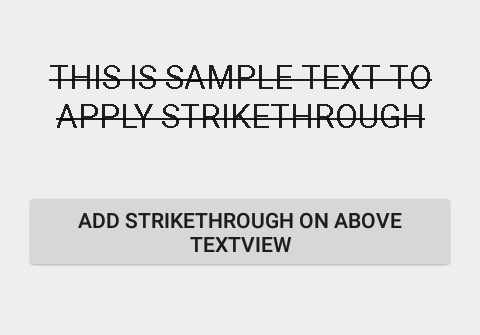 Add StrikeThrough text in android textview programmatically