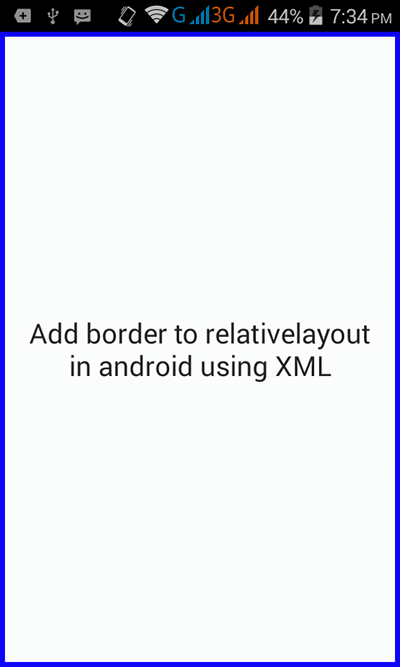 Add border to relativelayout in android using XML