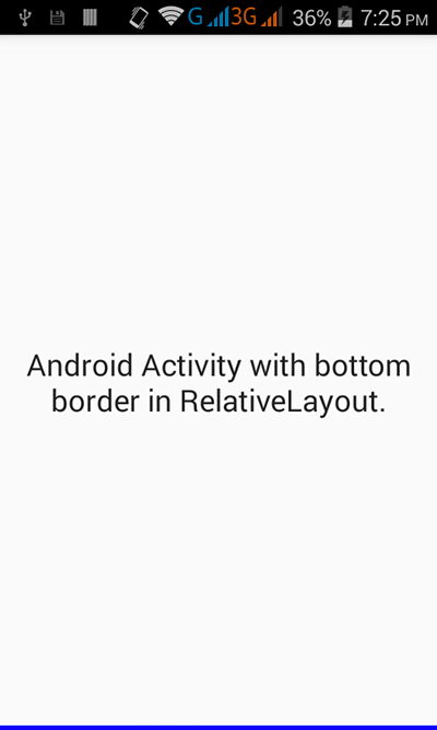 Add border to only bottom side in relativelayout android