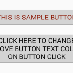 Change button upper text programmatically android