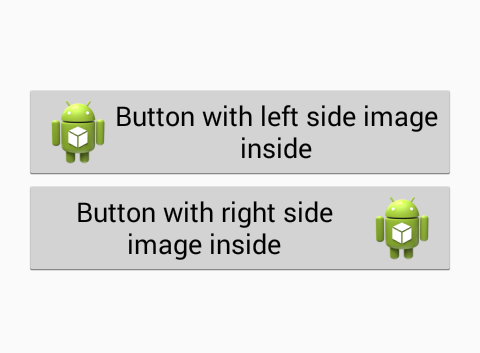 Add image icon inside to button in android