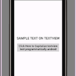 Capitalize all textview text programmatically android