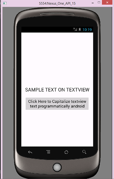 Input type android textview wrap