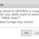 Delete table in mysql database in phpmyadmin xampp