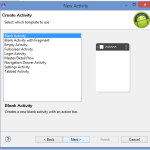 Add new android activity in existing Eclipse project without writing code