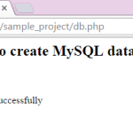 Create database in mysql using php coding script