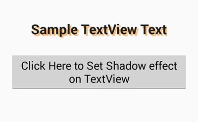 Set textView text Shadow effect programmatically android