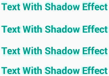 Apply shadow effect on Android TextView text using xml