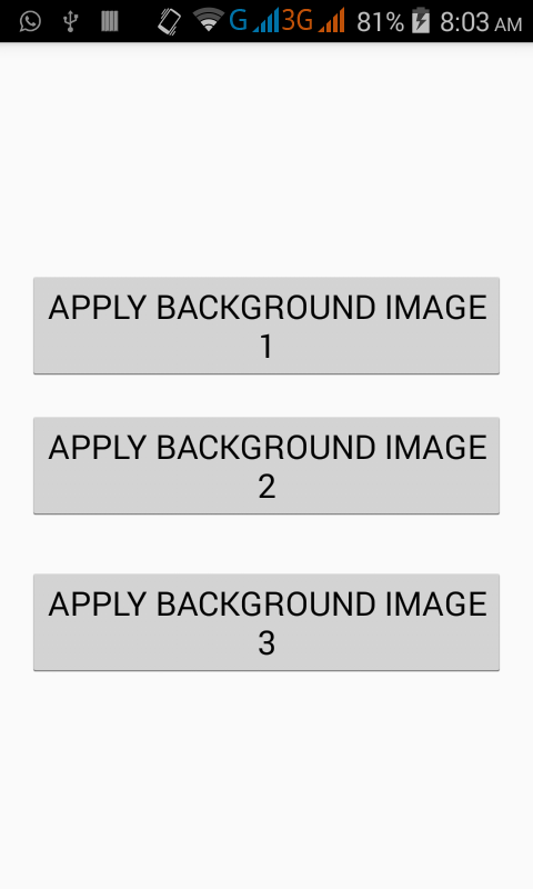 Set activity layout background image programmatically android