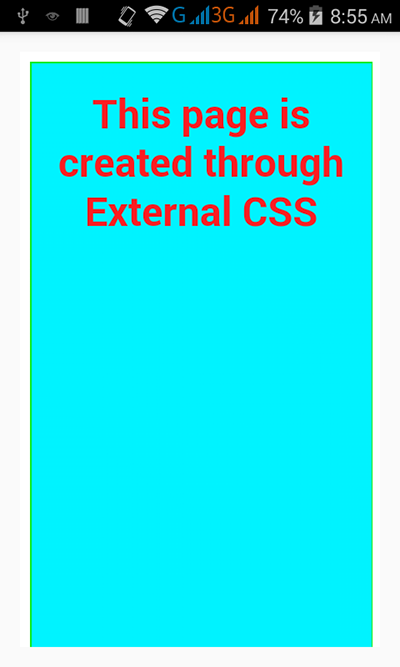 Load local html file with css into android webview