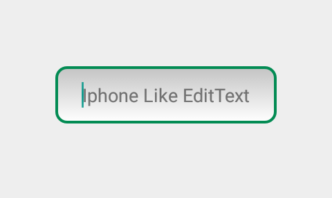 Set EditText Gradient Background with Rounded Border Android