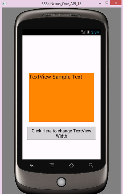 Android change TextView width height programmatically