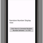 Generate unique random number android example code