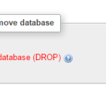 Delete MySQL database in phpmyadmin xampp