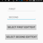 Add Requestfocus on EditText programmatically android