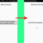 Pass complete object from one activity to another in android Java