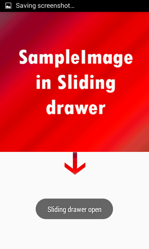 android slidingdrawer handle position 3