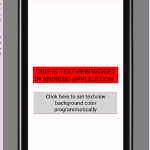 Set textview background color android programmatically