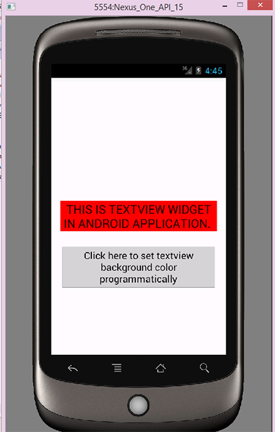 Set textview background color android programmatically - Android