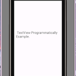 Android create textview programmatically example