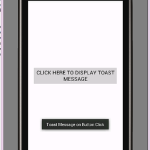 Android Toast message widget example Tutorial