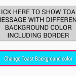 Change Toast message background color in android