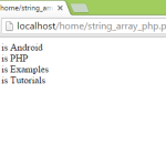 Declare string array in php example tutorial