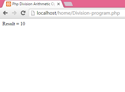 Php Division Arithmetic Operator Example Tutorial