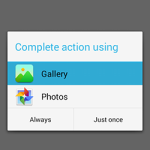 Get/Pick image from gallery in android programmatically