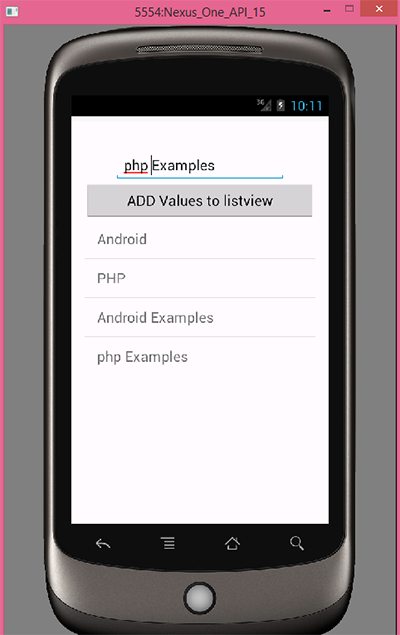 Add Item In Listview In Android Programmatically Using
