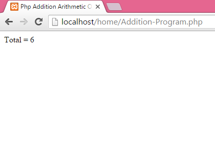 Php Addition Arithmetic Operator Example Tutorial